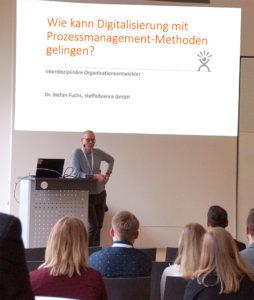 Business Digital staffadvance GmbH Prozessmanagement Methoden und Veränderung Digitalisierung Vortrag Dr.Stefan Fuchs